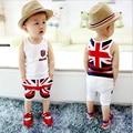 Новое Прибытие мальчики лето жилет + брюки детские рукавов Футболки шорты детской одежды