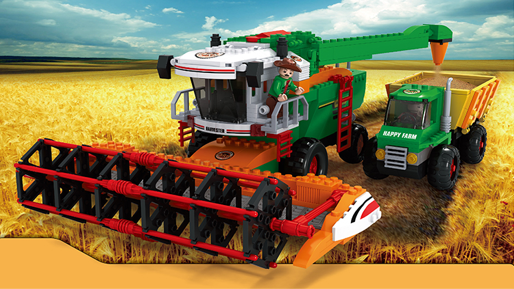 28703 565pcs Farm Harvester Constructor Model <font><b>Kit</b></font> Blocks Compatible LEGO Bricks Toys for Boys Girls Children Modeling image