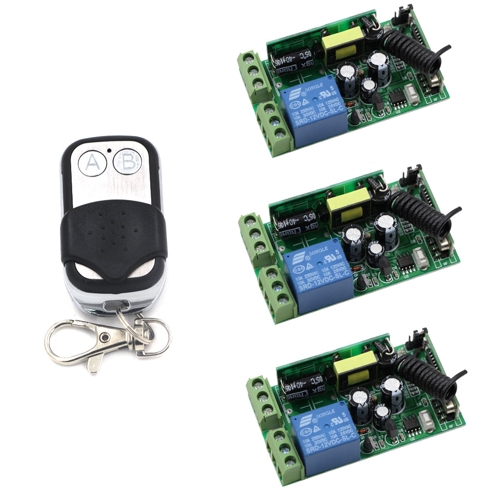 AC 85V 110V 220V 240V 250V Wireless Remote Control Light Switch 1CH Relay Receiver Transmitter For Home LED Lamp Light 85v 250v remote relay control switch 8ch receiver