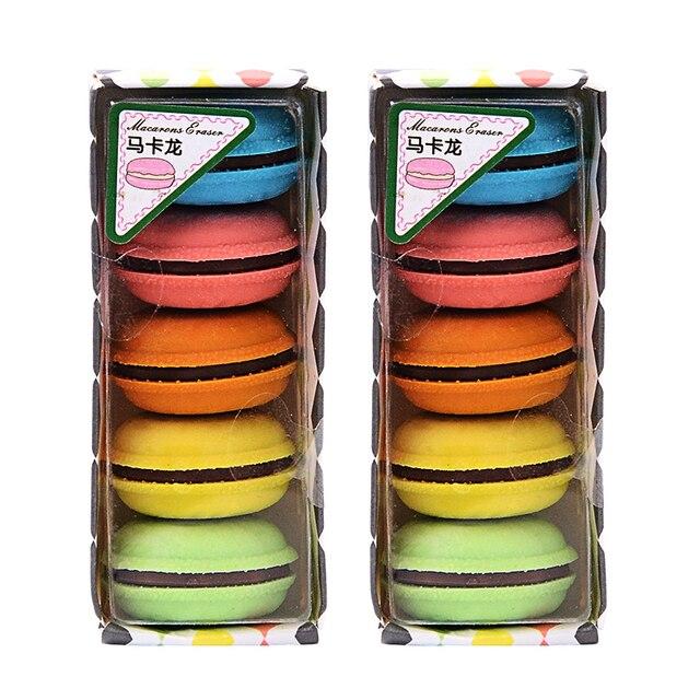 Creativo Macaron Eraser di Gomma Sveglio Kawaii di Colore Della Caramella Gomme di Cancelleria Per Ufficio Scuola Forniture Regalo per I Bambini 5