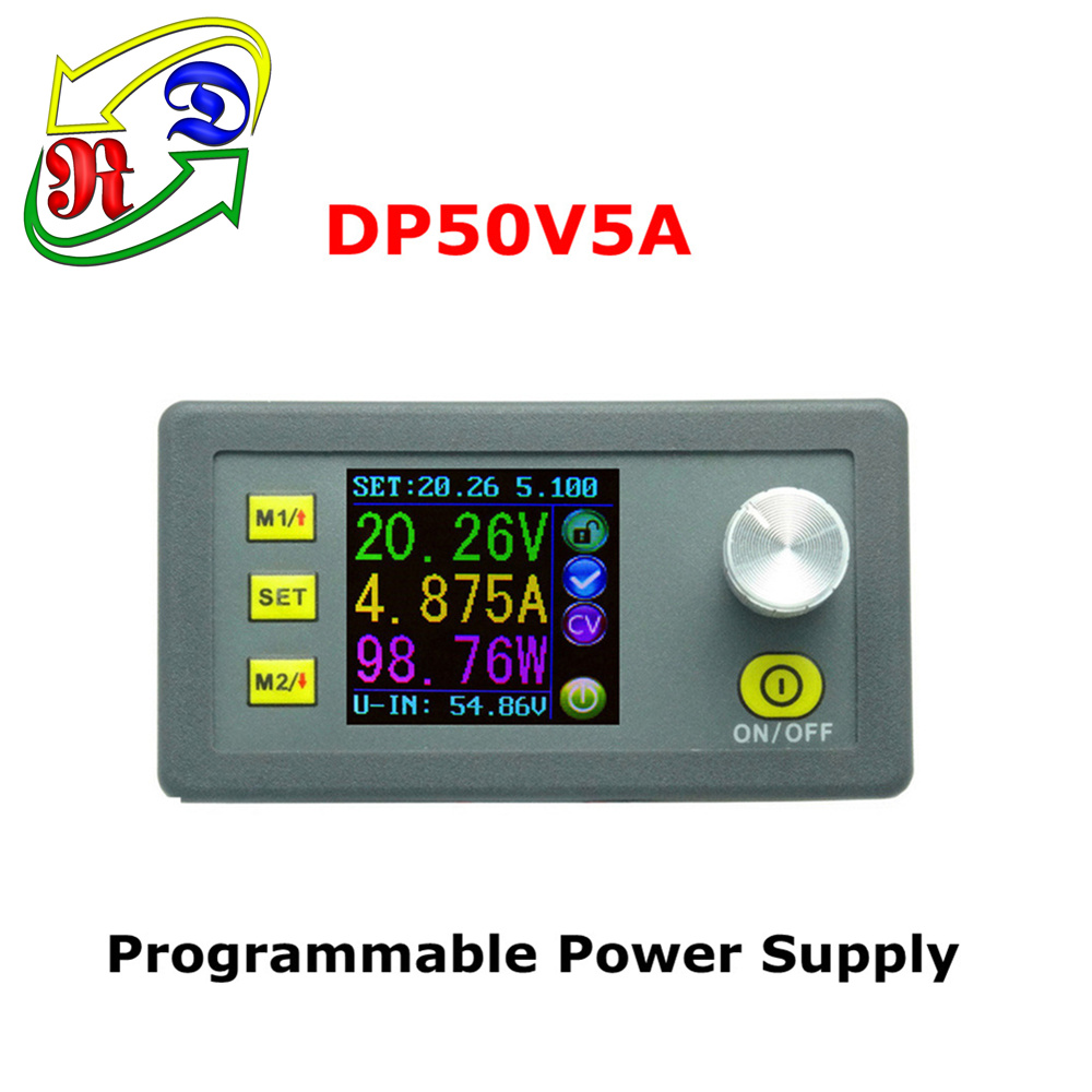 RD DP50V5A Constant Voltage current Step-down Programmable Power Supply module buck Voltage converter color LCD voltmeter