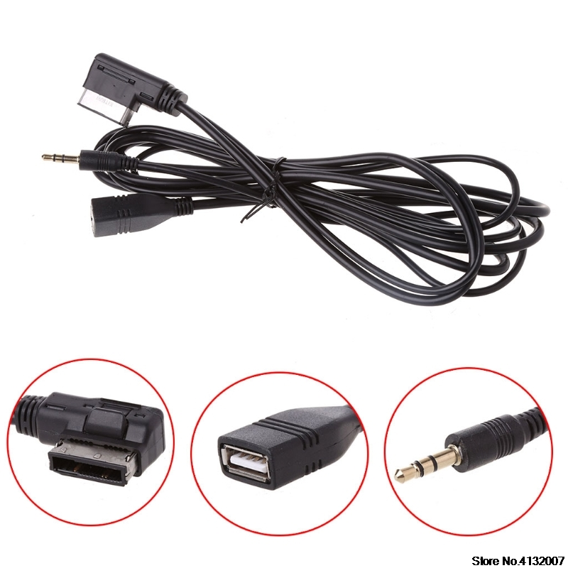 f2f96452db1 Coche AMI música cargador de interfaz de Cable USB AUX para Mercedes Benz  C63 E200l CLS ML 828 promoción