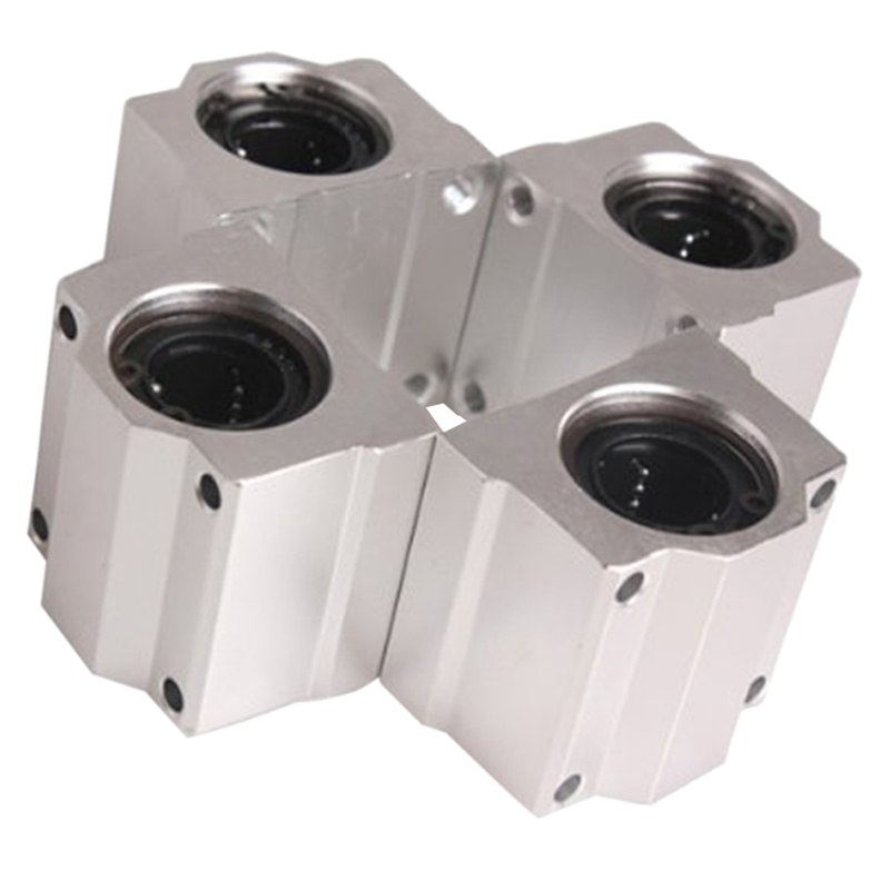 KSOL 4 Pcs SC20UU 20mm Aluminum Linear Motion Ball Bearing Slide Bushing for CNC scv25uu 25 mm linear motion ball bearing slide unit bushing