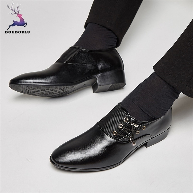 Shoes Mens Brand Leather Formal Shoes Lace Up Dress Shoes Oxfords Fashion Retro Shoes Elegant Work Footwear Zapatos De Hombre De Vest