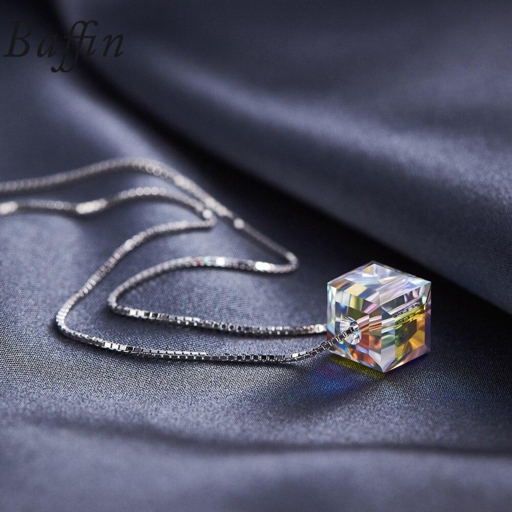 BAFFIN kristallid SWAROVSKI Cube helmestest Kaelakee ripatsid 925 - Mood ehteid - Foto 2