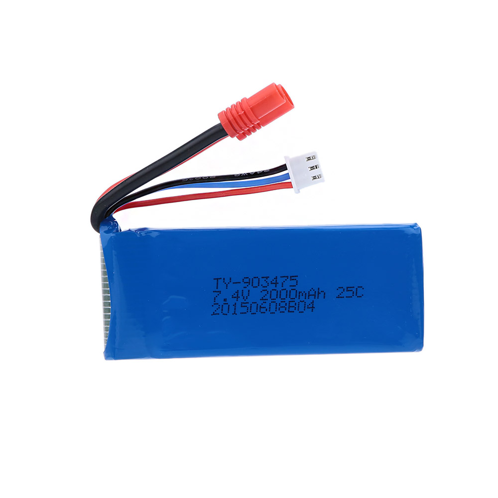 ФОТО 2pcs  battery 7.4V 2000mAh battery for rc drone quadcopter X8W x8c X8G X8HC X8HW X8HG parts