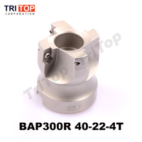 Free Shiping BAP JAP 300R 40 22 4T Milling tool For milling insert APMT1135PDR Face Mill Shoulder Cutter BAP 300R 40 22 4T