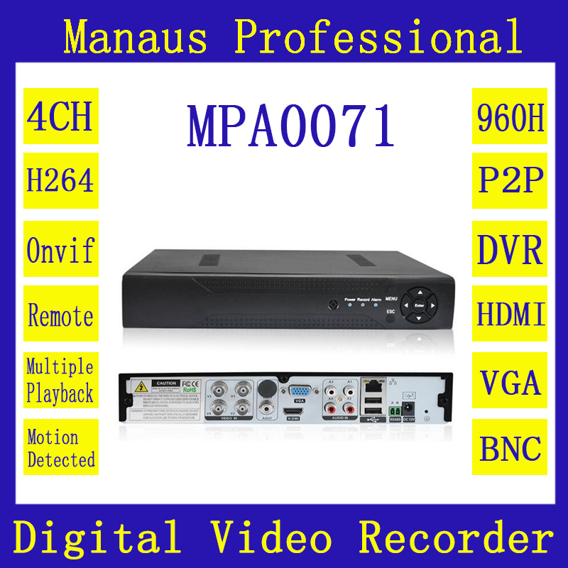 ФОТО 4CH CCTV Digital Video Recorder Security System Full D1 H.264 HDMI P2P Cloud Motion Detecting Remote Phone Monitoring Host A-71