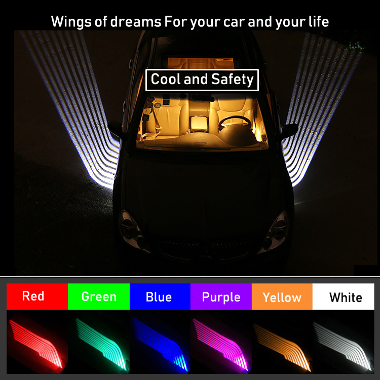 Angel Wings Lights Angel Wings LED Welcome Light Wings of Dream For Car SUV Motorcycle 12V 24V White Red Blue Green Yellow Pink футболка классическая printio adventure time x doctor who