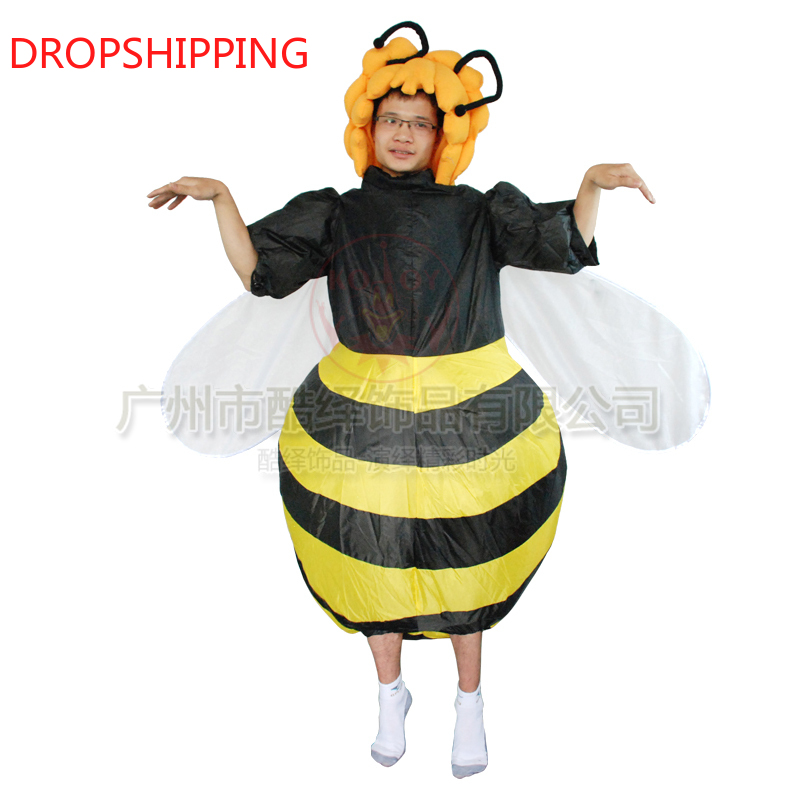 Inflatable Bumble Bee Costume for men women Party Carnival Cosplay Dress Halloween Christmas Xmas Animal costumes
