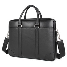 Men Leather Handbag Business Travel Bag for Lawyer Briefcase Sling Shoulder 7400A