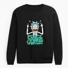 New Design Rick and morty Mens Hoodies Cotton Funny Print Hoodie Man Fashion Ric