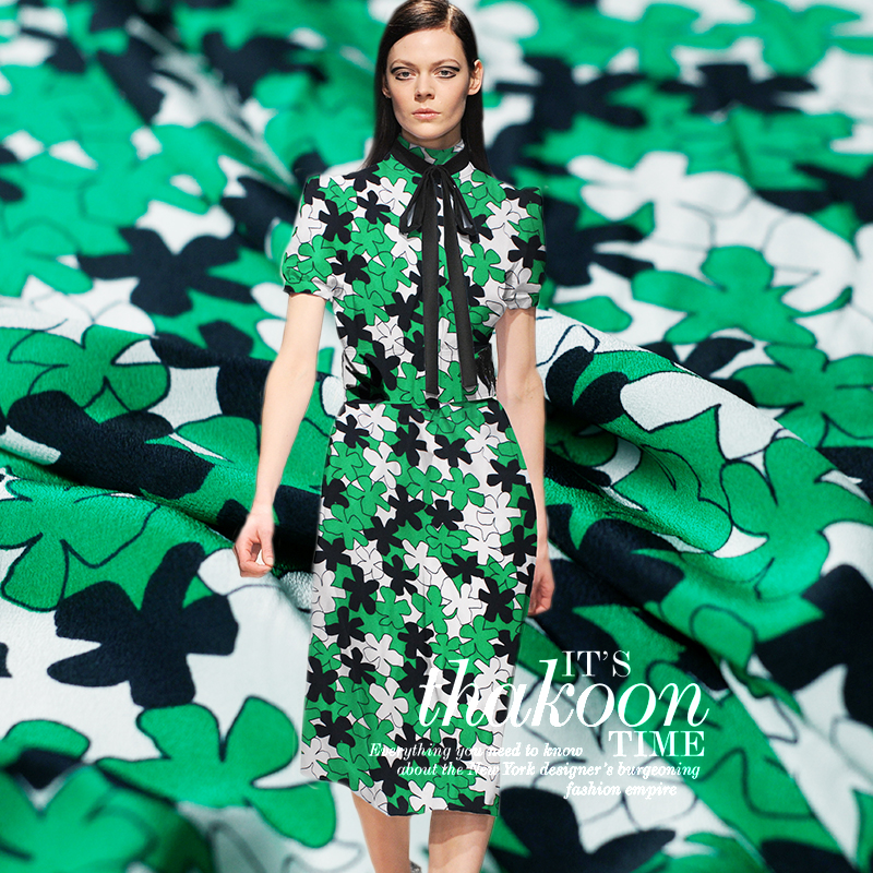High End Custom White Green Flower 100 Silk Fabric For Summer Dress Width135cm Crepe De Chine Clothing Cloth For Diy Sewing Hot Fabric Aliexpress