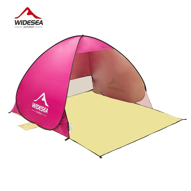 WIDESEA tente de plage pop up ouvert 1-2person sunshelter rapide automatique 90% UV-de protection auvent tente de camping de pêche parasol - 4