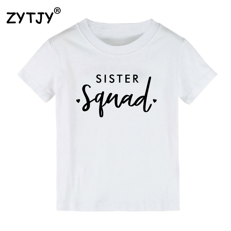 Sister Squad print Kids tshirt Boy Girl t shirt For Children Toddler Clothes Funny Tumblr Top Tees Drop Ship CZ-21 image
