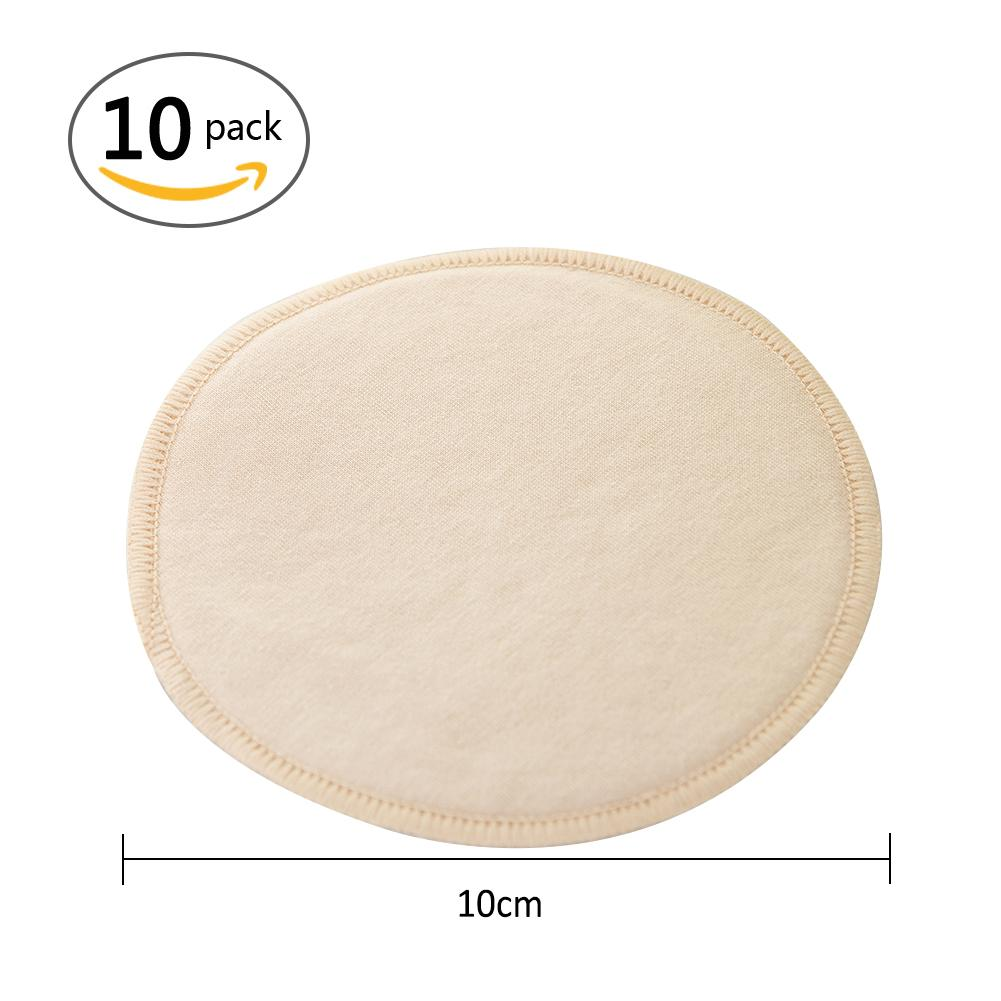 10Pcs Mom Cutton Breast Nursing Pad Waterproof Washable Feeding Reusable Thick Pads