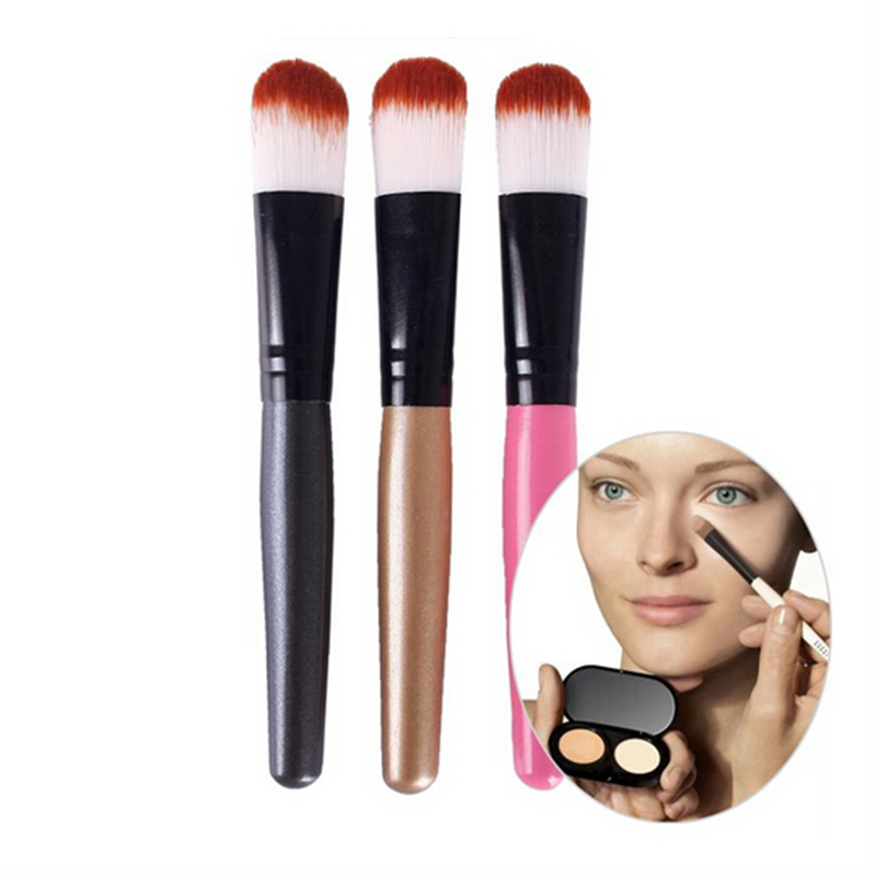 3 PCS High Quality Powder Brush Wooden Handle Multi-Function Blush Brush Mask Brush Foundation Makeup Tool TF 1pcs lot j112y imitation of brass wire brush for cleaning and polishing wooden brush diy using high quality on sale