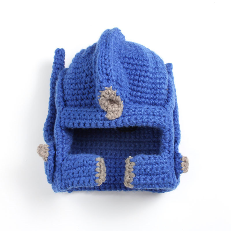 Crochet Transformer Optimus Prime Hat handmade knitted Face Mask Windproof  Mask warm funny costume -in Skullies   Beanies from Apparel Accessories on  ... ed3dfb06cd8