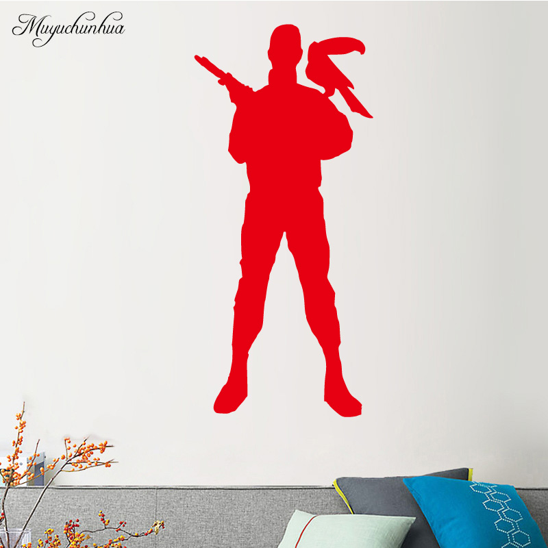 Muyuchunhua Fascinating Ninja Wall Sticker Removable Vinyl Waterproof Home Decoration Accessories for Boys Room Living Room