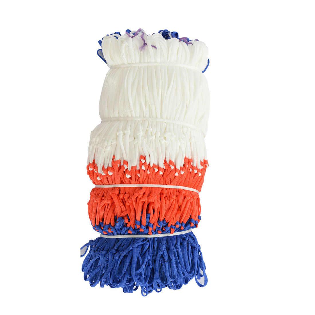 Стандартный нейлоновой нити Спорт баскетбольное кольцо сеточку обод щита мяч насос 12 петли белый красные, синие 3 цвета чистый футбол