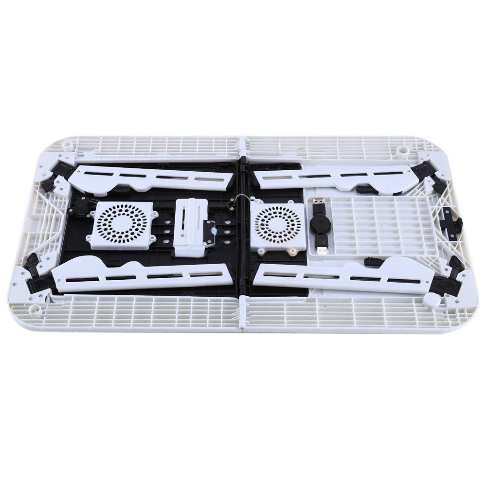 Hot Sale Laptop Desk Foldable Table e-Table Bed USB Cooling Fans Stand TV Tray