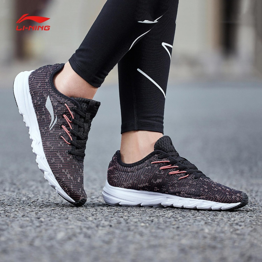 Li Ning Women EZ RUN Running Shoes Light Weight Breathable LiNing Anti Slip Sports Shoes Wearable