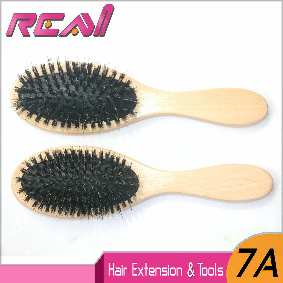 Boar Bristle Hair Brush, Free Shipping Hair Extension Brushes Wooden Handle With Hog Boar Bristle Hair Brush Comb