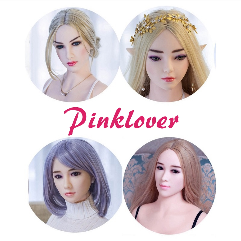 2015 new lifelike silicone oral sex doll head with wig