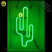 Neon Sign Cactus Bar Neon Signs Real Glass Tubes Neon Bulb Signboard lighted Signs Beer neon lights for sale customized Lamp