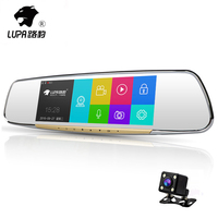 Newest LUPA 7inches FHD 1296P Night Vision Car Camera Dvr With Dual Lens Rear View Mirror