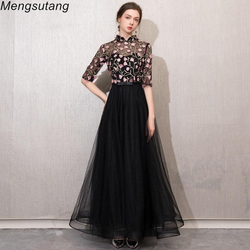 Robe De Soiree New Elegant Slim O Neck Pattern Vestido De Festa Plus