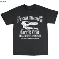 GILDAN Dr Alan Grant S Raptor Ridge T Shirt 100 Cotton Dinosaur Official Dig Crew Shirt