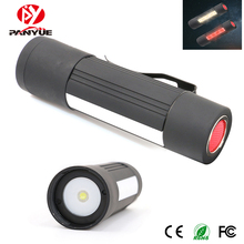 цена на PANYUE 3 in 1 Mini Led Flashlight Work Lights Warning Lights Zoomable Magnet Camping Flashlight Torch use 3*AAA battery