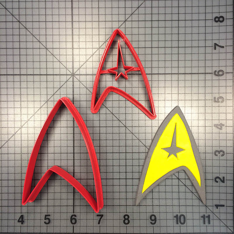 Cartoon Star Treks Series Cookie Cutter Custom Made 3D Printed Fondant Cuocake Top Cake Decorating Tools Kitchen Accessories in Cookie Tools from Home Garden