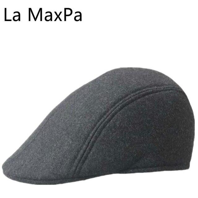 512e37f00bd 3 colors The autumn winter wool duck tongue hat wholesale hats for men  Woolen Newsboy Cap Painter Beret Hat Retail