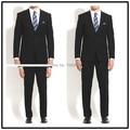 De Calidad superior 100% de lana de encargo sólido azul marino oscuro muesca solapa doble vent dos botones de dos piezas trajes de hombre elegante!!