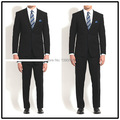 Top Quality 100% wool custom made solid dark navy notch lapel double vent two buttons two piece elegant men suits!!