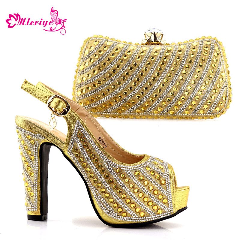 2872 golden New 2018 design African shoes and matching bags Italian shoes and bag set women pumps Italy ladies shoes and Bags african shoes and matching bags italian shoes and bag set women pumps italy ladies shoes and bag set doershow hlu1 51