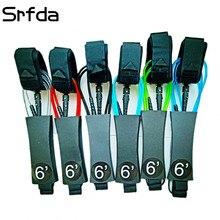 SRFDA поводок для серфинга 6feet5. 5 мм двойной swviels прямой поводок с полиуретаном TPU нейлон нержавеющая сталь серфинга поводок
