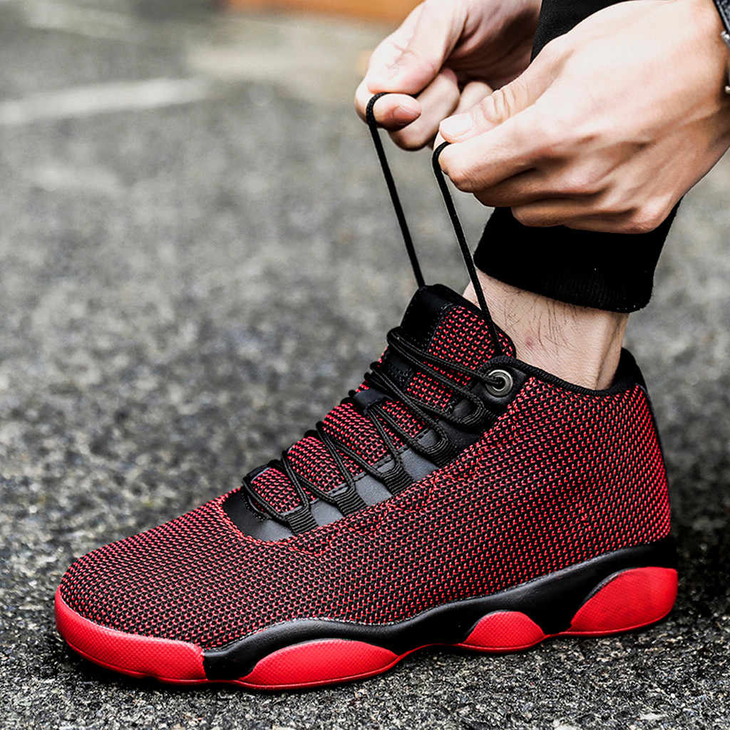 Perimedes 2019 new men running shoes Men Net Surface Flat Running sneaker Basketball Shoe Non-Slip Breathable Sneaker#g30