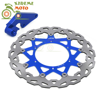 Синий 320 flaoting тормозной диск + кронштейн для Yamaha YZ125 250 250F 400F 426F 450F WR125 250 250F 400F 426F 450F мотокросс эндуро