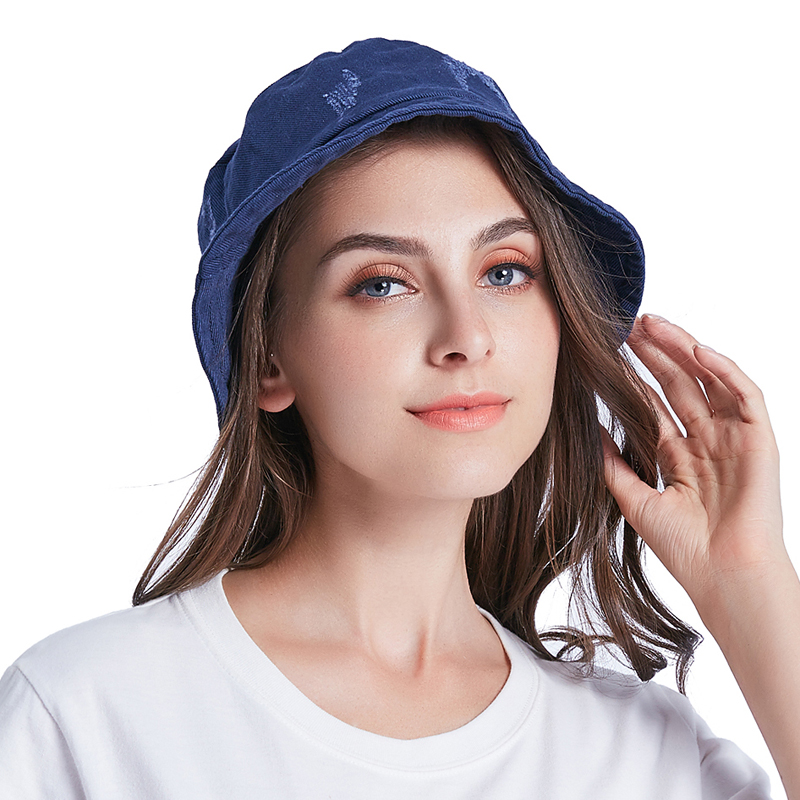 a6f7aba07ff MAITRI New Spring Summer Hole Denim Bucket Hat For Women Men Fashion Vintage  Foldable Beach Sun Hat Cap -in Bucket Hats from Apparel Accessories on ...