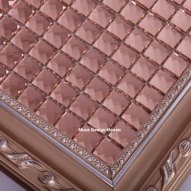 Hochwertig 15mm 13 Beveled Edges Pink Diamond Mirror Glass Mosaic Tile For Wall  Sticker Showroom KTV Bar Display Cabinet Borders DIY Deco In Wallpapers  From Home ...