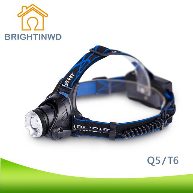 LEVOU Farol Q5/T6 Luzes LED Farol Zoom Farol Lanterna Cabeça Lamp18650 Bateria Luzes Ao Ar Livre Luzes de Acampamento Q5 CE