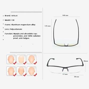 Image 5 - KATELUO 2020 alüminyum bilgisayar gözlük Anti mavi ışık yorgunluk radyasyon dayanıklı erkek gözlük optik gözlük çerçevesi 130