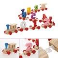 Дети Деревянный Цифровой Маленький Поезд 9 Развивающие Игрушки Творческий Малыши Детей Подарки