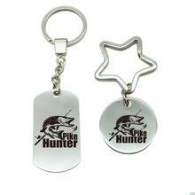 Модные Hunter Щука рыбалка укус брелок Металлический брелок сумка парный брелок автомобиль брелок в подарок для мужчин Для женщин C5-1770
