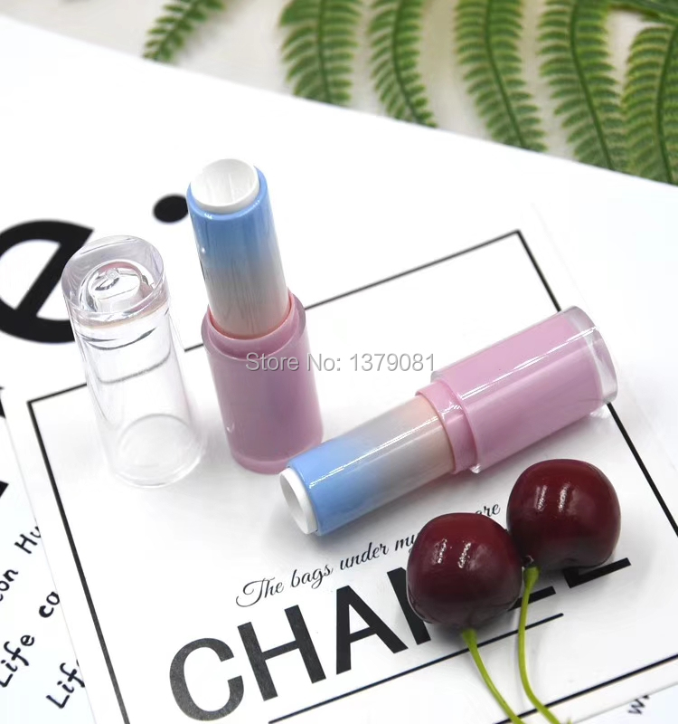 30/50pcs Empty Pink Blue Gradient Lipstick Tube DIY Lipstick Container Packaging Transparent Lid Lip Balm Bottle Free Shipping комплект белья pink lipstick