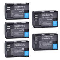 5 pièces 2650 mAh LP-E6 LPE6 LP E6 Batteries pour Canon 5D Mark II III 7D 60D EOS 6D 7D, 80D et BG-E14, BG-E1 pour canon accessoires