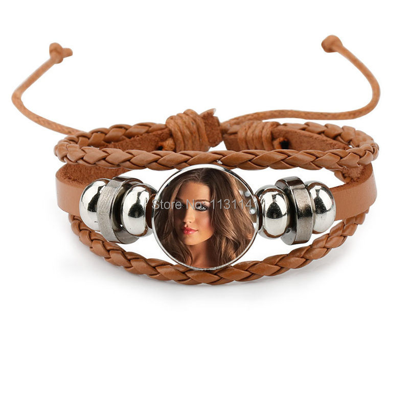 bracelets for dye sublimation cowhide knitted bracelet jewelry for women hot transfer printing custom jewelry consumables 6color-in Wrap Bracelets from Jewelry & Accessories    3